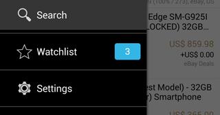 Screenshot mit Merklisten-Eintrag