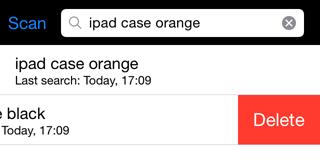 Screenshot mit einem Suchlauf auf dem iPhone